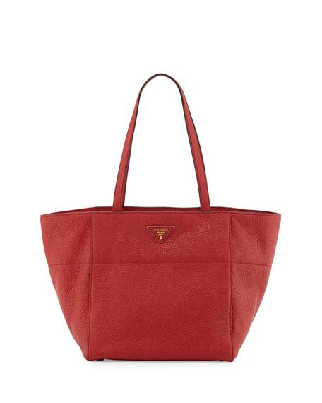 Vitello Daino Shopper, Red (Fuoco)