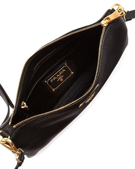 prada crossbody messenger - Prada Vitello Daino Crossbody Bag, Black (Nero)