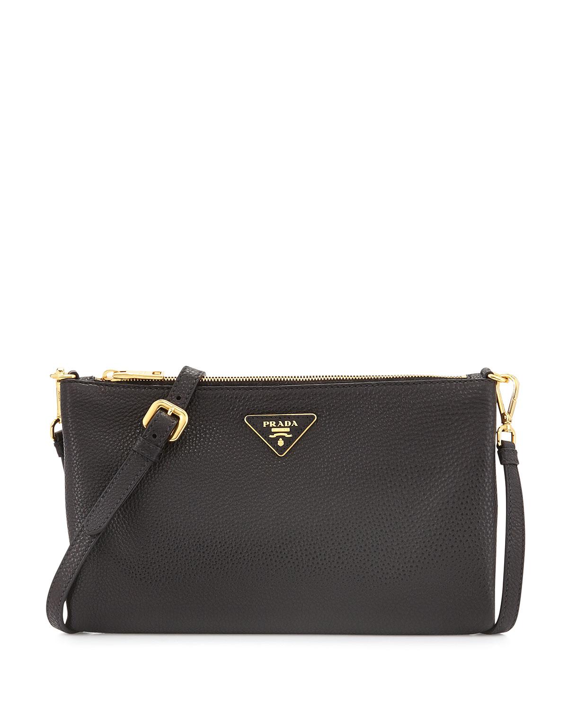239c1e32ccc9 Prada Vitello Daino Crossbody Bag, Black (Nero) | Neiman Marcus