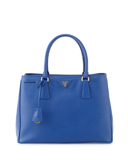 Prada Saffiano Small Gardener's Tote Bag, Blue (Royal)