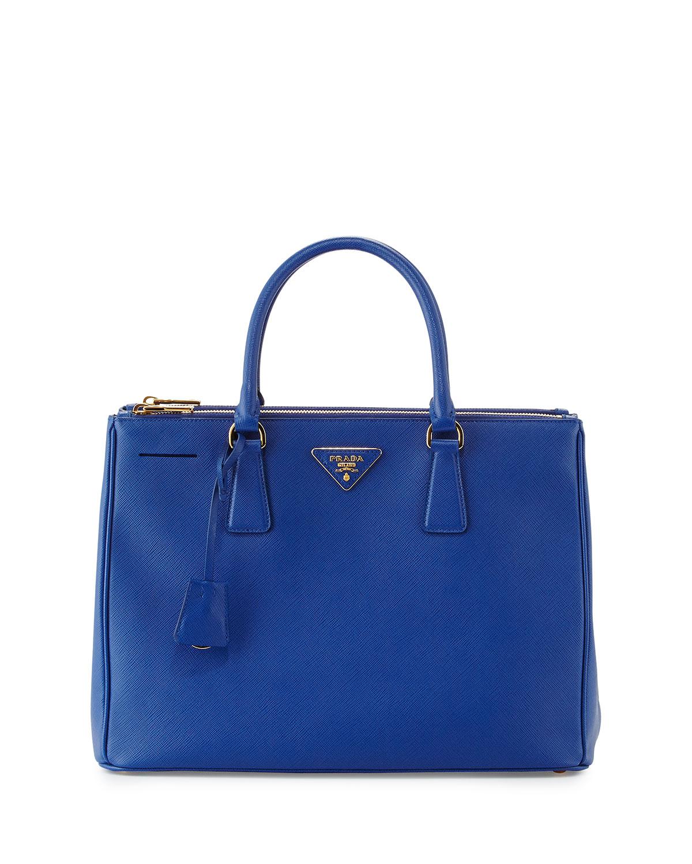 c7bbe398c77e Prada Saffiano Double-Zip Executive Tote, Blue (Royal) | Neiman Marcus