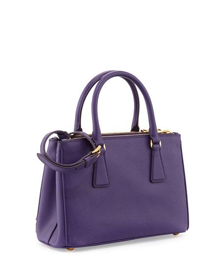 27cf1020c09b ... discount code for tote cerise 85998 prada saffiano double zip mini  crossbody violet viola neiman marcus