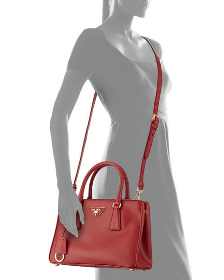 ffa0c39fcce2 Prada Saffiano Mini Double-Zip Tote Bag
