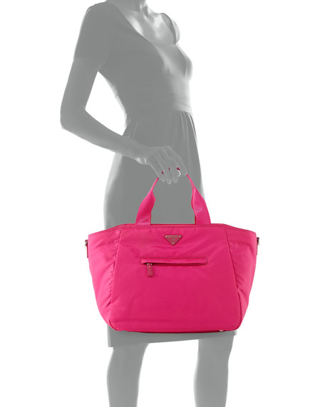 prada pink nylon bag