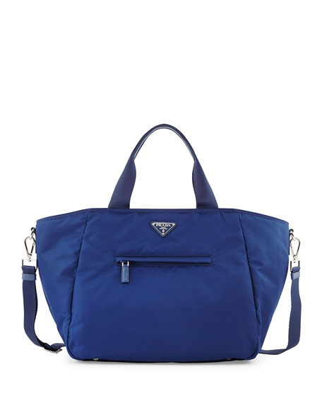 ... reduced prada nylon tote bag with strap blue royal neiman marcus 1cbb3  5bd08 low cost ... 9fea93f891593