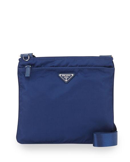 Vela Flat Crossbody Bag, Blue (Royal)