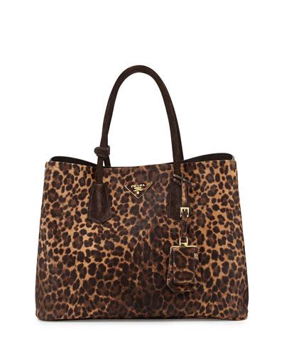 Prada Cavallino Double Bag, Honey/Brown (Miele/Moro)