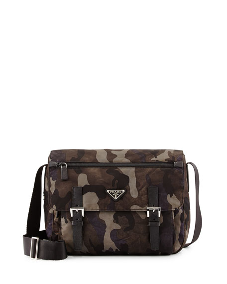 how much are prada wallets - Prada Tessuto Camouflage Messenger Bag, Gray Multi (Fumo)