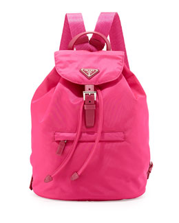 Prada Vela Medium Backpack, Pink (Fuxia)