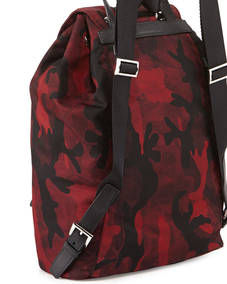 Tessuto Camouflage Backpack, Bordeaux (Bordeaux)