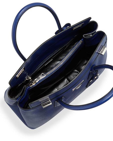 Saffiano Cuir Twin Bag, Ink Blue (Inchiostro)