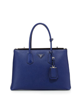 Prada Saffiano Cuir Twin Bag, Ink Blue (Inchiostro)