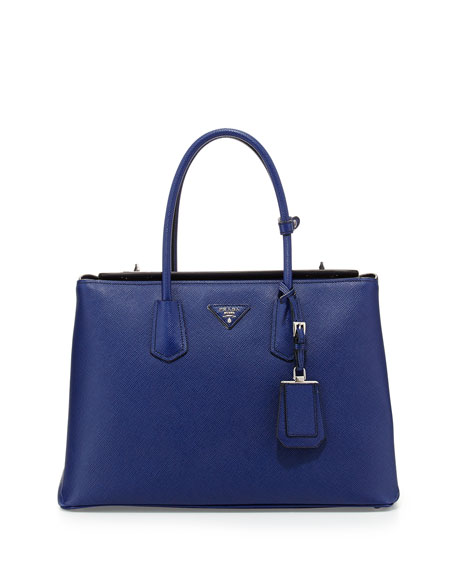Saffiano Cuir Twin Bag, Ink Blue (Inchiostro)