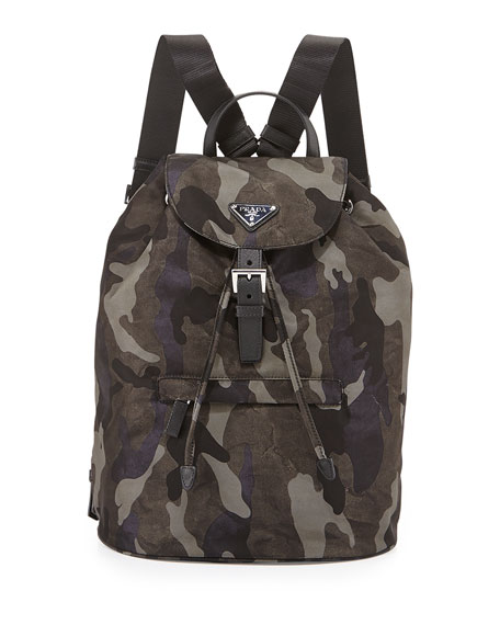 Tessuto Camouflage Backpack, Gray (Fumo)