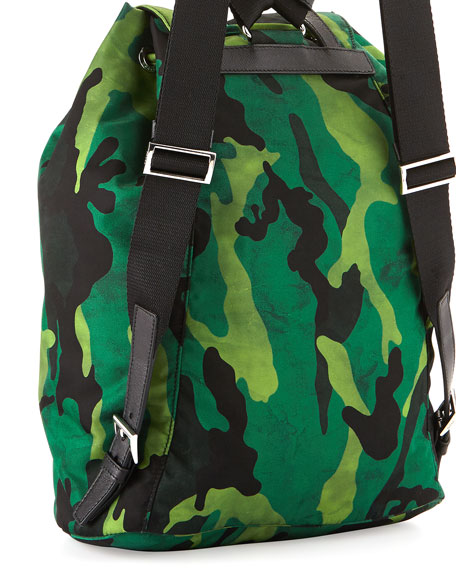 Tessuto Camouflage Backpack, Green (Prato)