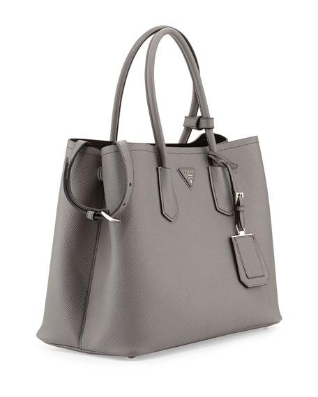 Prada Saffiano Grey Handbag