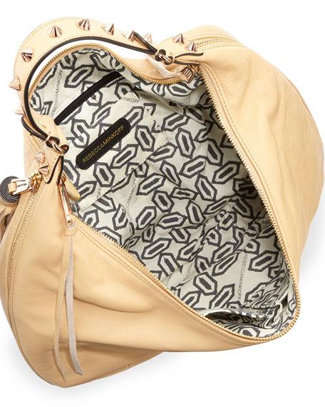 Bailey Tassel Hobo Bag, Biscuit