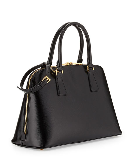prada handbag collection - Prada Medium Saffiano Vernice Promenade Bag, Black (Nero)