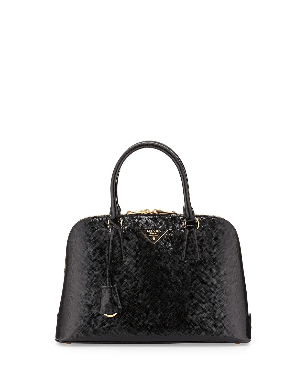bfe06fa9 Medium Saffiano Vernice Promenade Bag, Black (Nero)
