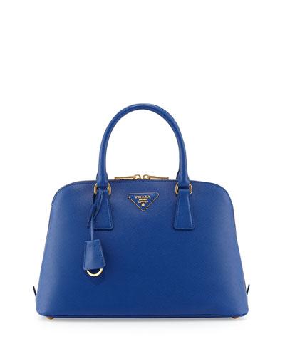 Prada Medium Saffiano Pomenade Bag, Dark Blue (Inchiostro)