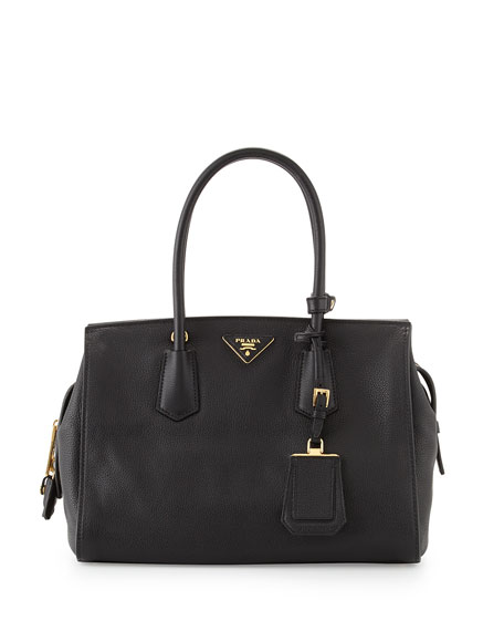 Vitello Grain Satchel, Black (Nero)