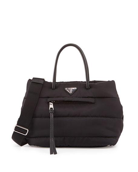 Tessuto Bomber Shopper Bag, Black (Nero)