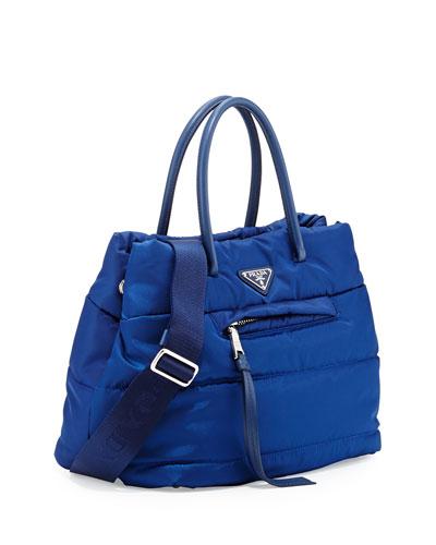 Prada Tessuto Bomber Shopper Bag, Blue