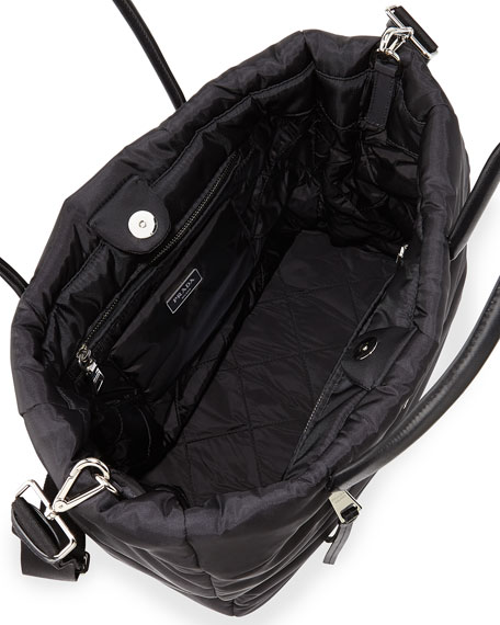 Tessuto Bomber Tote Bag, Black (Nero)
