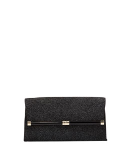 Diane von Furstenberg 440 Glass-Embossed Envelope Clutch Bag, Black Diamond
