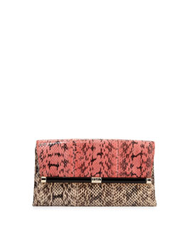 Diane von Furstenberg 440 Snake Envelope Clutch Bag, Sunkissed French Vanilla