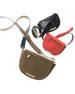 Luna Leather Saddle Crossbody Bag, Orange Glow