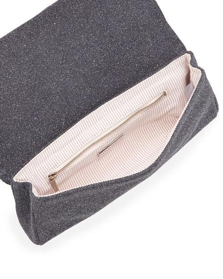 Caroline Crystallized Clutch Bag, Charcoal