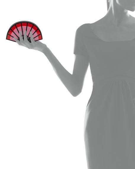 I am a Fan Minaudiere, Red/Pink