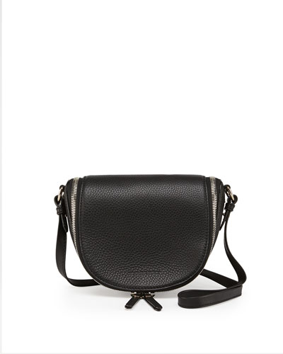 Burberry Small Leather Zip Crossbody Bag, Black