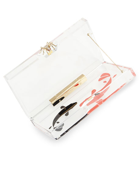 Pandora Carp Box Clutch, Clear