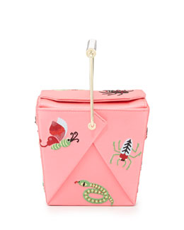 Charlotte Olympia Take Me Away Box Clutch Bag, Pink