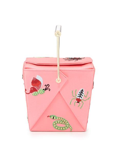 Charlotte Olympia Take Me Away Box Clutch Bag, Pink