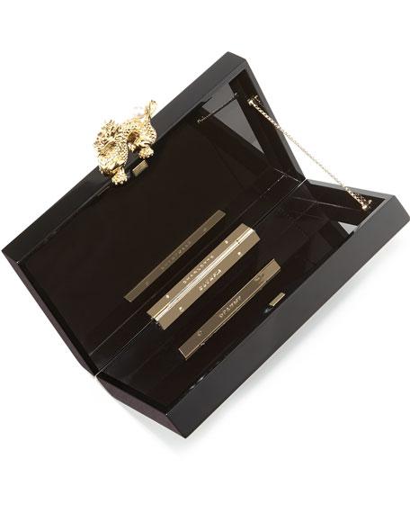 Pandora Dragon Box Clutch, Black