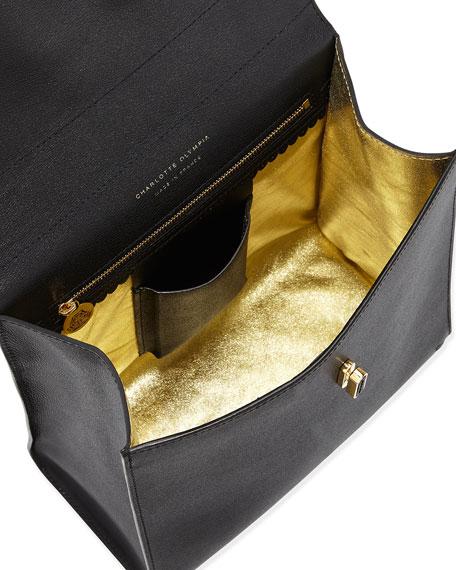 Bogart Leather Top Handle Bag, Black