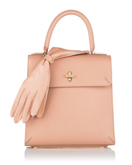 Charlotte Olympia Bogart Leather Top Handle Bag, Blush