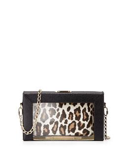 Charlotte Olympia Astaire Box Clutch & Pouch Set, Black