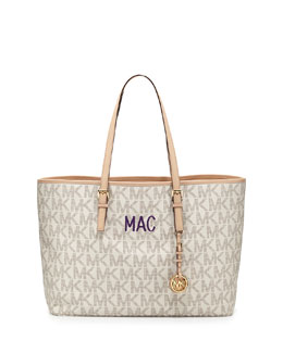 MICHAEL Michael Kors  Monogrammed Medium Jet Set Multifunction Logo Travel Tote