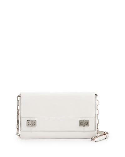 Prada Medium Lux Flap Crossbody Bag, White (Bianco)