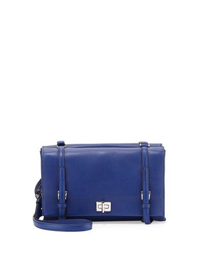 Prada Lux Calf Shoulder Bag, Dark Blue (Inchiostro)