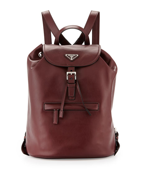 prada backpack replica - Prada Soft Calfskin Medium Backpack, Bordeaux (Granato)