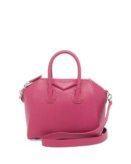 Givenchy Antigona Mini Sugar Satchel Bag, Magenta