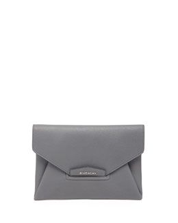 Givenchy Antigona Sugar Envelope Clutch Bag, Gray
