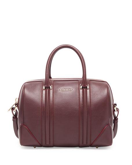 Lucrezia Medium Leather Satchel Bag, Oxblood
