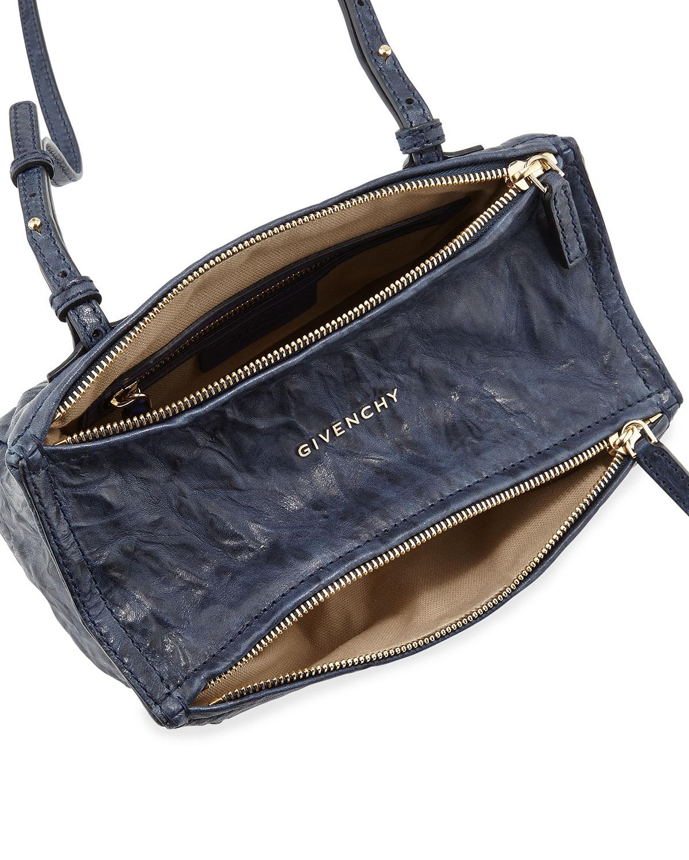 8c56ce8ad371d Givenchy Pandora Mini Leather Crossbody Bag, Blue | Neiman Marcus