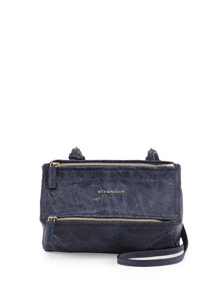 b1f2018405 Givenchy Pandora Mini Leather Crossbody Bag, Blue | Neiman Marcus